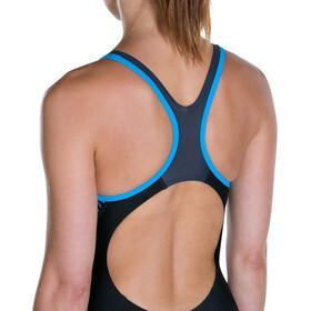 speedo W's Fit Laneback Swimsuit Black/Oxid Grey/Winsdor Blue